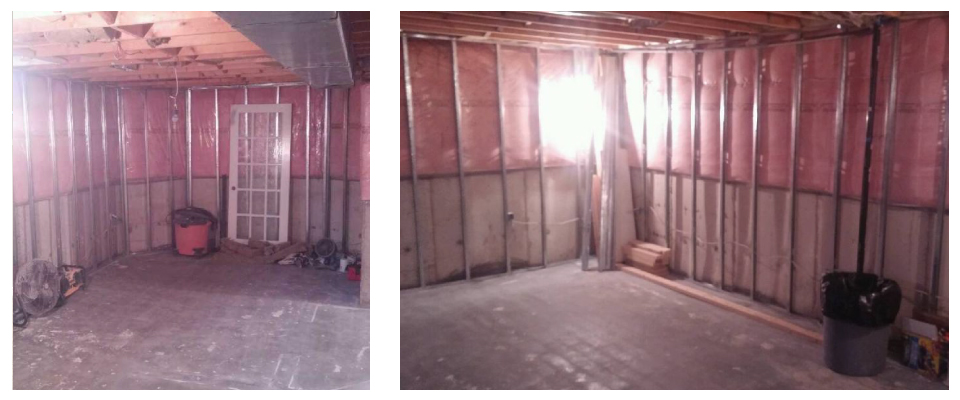 Basement renovation - before 1