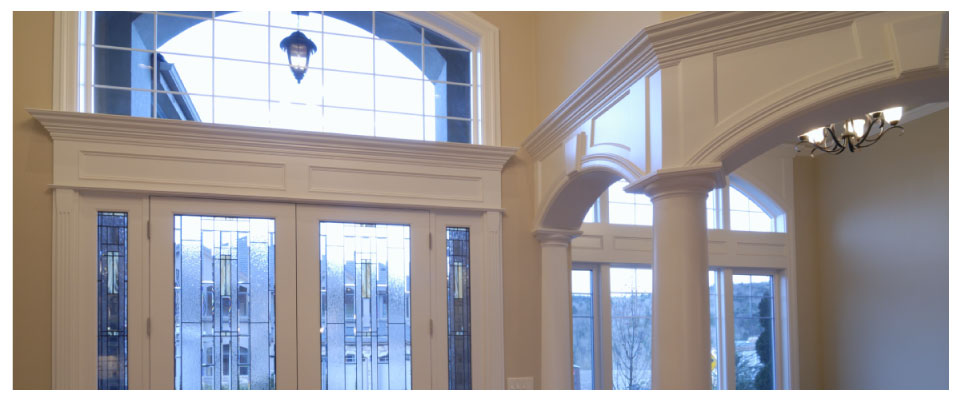 moulding in entryway